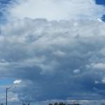 Storm clouds over Petaluma