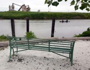 Bench by the Petaluma River