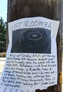 Petaluma streets - Have you seen my Roomba