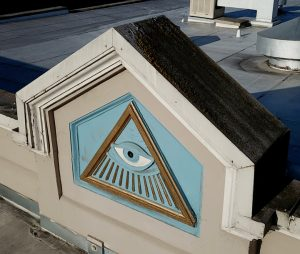 Masonic Bldg - Masonic Eye. Petaluma